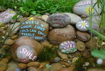 kids painted pots & stones / kids painted pots and Stones.  stone Art Brought to you by Kidsinthegarden a site that's packed full of great kids' gardening and outdoor activities - come and visit us!}  / by Lynda Appuhamy kidsinthegarden.co.uk