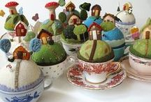 Pincushions and sewing antiques / by Diana Lentz