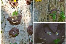 Garden Tree Faces / Your kids can bring real life into the garden by making tree faces - so easy. {Brought to you by Kidsinthegarden a site that's packed full of great kids' gardening and outdoor activities - come and visit us!}
