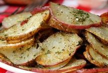 """Man Food- Sides / """"Man does not live by bread alone""""... or for that matter meat! A few of our favorite sides, go-withs. It's ok to have potatoes two ways on your plate! Enjoy and pin away, there are no limits!!! / by Joy Colleen Tilton"""