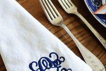 m o n o g r a m s / Love a monogram ... cannot deny the preppy in me.