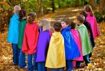 Camp Super Hero Day Ideas / Fun Day Friday is a chance to be silly and have Fun!  Super Hero Day is the Favorite Fun Day!  Everyone love pretending to be a super hero!