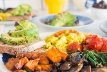 Plant Based Breakfast ideas / My favourite vegan friendly, plant based breakfast recipes from pancakes to oat bars, avocado toast, veggie fry-up's, smoothies, homemade granolas and lots of peanut butter!