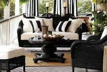 b l a c k w h i t e p a t i o s / Outdoor living spaces in neutral blacks and whites
