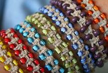 Camp Bracelets / Making bracelets at camp is a fun craft activity.  There are so many types of bracelets that campers can make to remember their summer fun all year long.