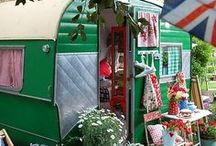 Caravans / I am hoping to someday have one of these vintage caravans as my dedicated knitting space! / by Angela Clark-Praxis