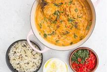 Deliciously Ella's Winter Warmers / Lots of plant based recipes to keep you going throughout the colder months with all my favourite stews, curries, dahls, pastas and soups. These work so well for big batch cooking too and they're perfect for feeding big groups!
