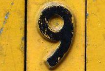 Nine / Nove / O numero nove em toda sua glória tipográfica.  {Number nine in all its typography glory.}