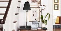 A Gorgeous Entry / Beautiful decorating entry hall ideas.