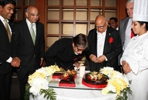 Amitabh Bachchan's 70th Birthday at The Leela Mumbai / Living legend of #Indian #Cinema and actor par excellence #AmitabhBachchan celebrated his 70th birthday with Padmabhushan Capt. C. P. Krishnan Nair, Chairman, #TheLeela Palaces, Hotels and Resorts at the beautifully adorned #LobbyLounge at The Leela #Mumbai.