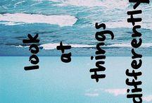 ə ʌ ı ʇ ɔ ə d s ɹ ə d / look at things differently / by ☯ C a r o l i n a ☯