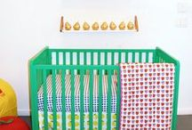 Farmer's Market Girl's Room / fruit-themed girl's room with gold accents / by Meg Opel