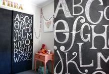 decor trend: play by numbers & letters