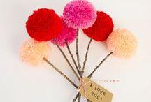 flowers, bows & pom-poms / by Rebecca Dunham