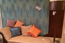 Cushions / From our current Entomology collection - original designs, hand printed fabrics and manipulated silks