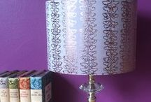 Lampshades / From our current Entomology collection - original designs, hand printed fabrics and manipulated silks