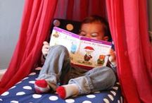 Reading Spaces. / Ideas for making a cozy, inviting, and fun reading space! / by MeeGenius! eBooks for Kids