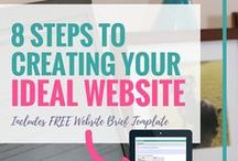 Website Tips for Small Business / Website, website design, about me, seo, search engine optimisation, landing page, lead page, sales page, website theme, website hosting, wordpress, squarespace, website theme