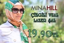 Minahill Çizgili Vual Lazer Şal