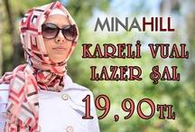 Minahill Kareli Vual Lazer Şal