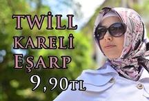 Twill Kareli Eşarp