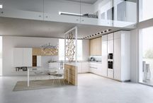kitchen / modern styled kitchens forming part of the living space of a home