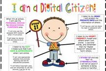Digital Citizenship Visuals / Posters that can be used in the classroom to remind students how to be ethical digital citizens.
