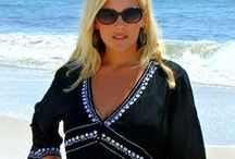 Swimsuit Cover ups - Plus Size / Take your curves gracefully from pool to patio, beach to bar side in this gorgeous collection of plus size swimsuit coverups, tunics, dresses and more