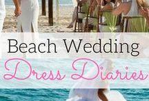 Beach Wedding Dresses / Best destination wedding travel agent per our WeddingWire client reviews! Beautiful dresses for your dream beach wedding. www.blisshoneymoons.com