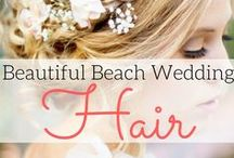 Beach Wedding Hair / Best destination wedding travel agent per our WeddingWire client reviews! With the stunning destination wedding and the perfect dress that you've chosen, nothing less than the best hairstyle will do.  A variety of hairstyles on our Beach Wedding Hair board will inspire you, including updos, half up, long, boho, with flower, medium, short, braid, accessories, side, with veil, wavy and lots more! www.blisshoneymoons.com