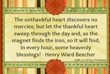 30 Days of #Thanksgiving / Each day in the month of November we are posting a new quote or scripture reminding us to give thanks to God for the many, many blessings that He bestows upon us. #quotes #thankful #thanksgiving