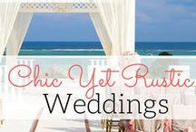 Chic Rustic Weddings / Best destination wedding travel agent per our WeddingWire client reviews! Choose décor that's in keeping with your destination wedding theme. Transform your venue with chic and rustic centerpieces, flower arrangements, invitations and more. Pull out all stops for your big day. Contact us at www.blisshoneymoons.com