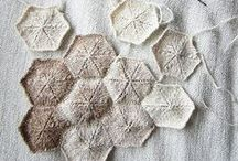 knitting, crocheting, textures