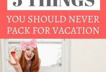 Travel Packing Tips / Packing for your next trip is always a hassle, but here you find some great travel packing tips to fit more in less space :)