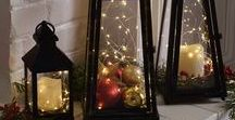 Christmas Holiday Lantern Ideas / Nothing is more beautiful than Old World Lanterns glowing with candlelight. Here are some beautiful ways to bring European style decorations to your home this holiday and Christmas season.