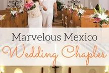 Mexico Wedding Chapels / Best destination wedding travel agent per our WeddingWire client reviews! Marvelous Mexico wedding chapels. To complete your perfect destination wedding, choose one of the numerous chapels that dot the landscape of Mexico and boast stunning architecture and gorgeous backdrops. Find a host of services to perfect every detail for your destination wedding, vow renewal or honeymoon getaway at www.blisshoneymoons.com.