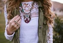 My Style / Lace, plaid, pearls.