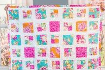 Modern Quilting / It's no wonder quilting has been around for centuries; the options are endless. Here are some fabrics, tutorials and patterns to inspire your next quilting project.