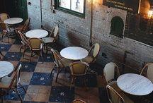 café. / coffee spaces.