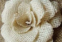 We Love Burlap! / The beauty of burlap is that even the simplest DIYs have a unique, vintage appearance.