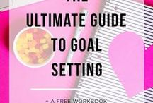 Goal Setting / The best goal setting tips and tricks for entrepreneurs and your business. Including ideas for time management, worksheets, free printables, and more!