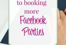 Facebook Parties for Direct Sales / Tips and tricks for hosting a Facebook party for your direct sales company. Including games to play, themes, how to be succesfull and get people engaged!