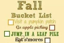 Fall Activities, Foods, Decor