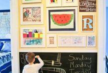 Kids Decor / Kids  children's storage, organization, and decor ideas.