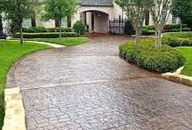 | STAMPED CONCRETE | / Choose from an array of patterns for stamped concrete to beautify your driveway, pool surrounds, entertainment areas, pathways, garage flooring etc.
