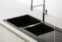I KITCHEN SINKS I / Kitchen sinks can be a real focal point in the kitchen, let's face it, we spend a lot of time at the sink!