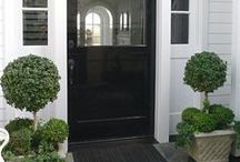 l EXTERIOR DOOR STYLES l / Your front door/entrance as well as a door to any room can say a lot about the owner. Whilst it must be practical, it needn't be dull!