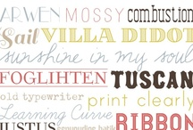 Prints,Fonts&Posters / by Bonnie Wood
