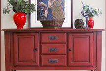 Porta Verde Studio / painted furniture, repurposed furniture, mid century modern, distressed, glazed, furniture / by Jacqui at Porta Verde Studio