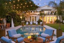 Backyards & Porches / The outdoors are better when they involve a beautiful wraparound porch & a backyard oasis. / by Melinda McCarty